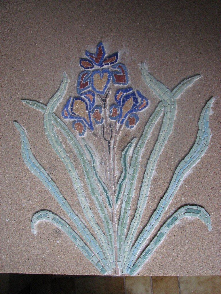 la premiere fleur de ma table dans mosaiques mex2012-002
